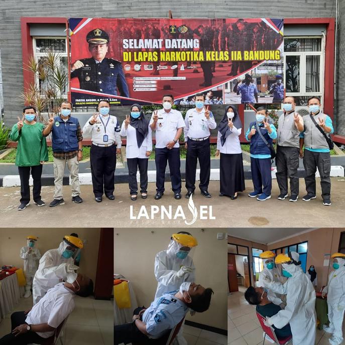 Deteksi Dini Covid-19 ASN Lapas Narkotika Kelas IIA Bandung Wajib Laksanakan Swab Test