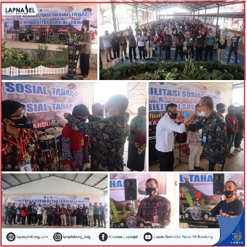 Penutupan Program Rehab Sosial Narkotika T.A. 2020 di Lapas Narkotika Kelas IIA Bandung