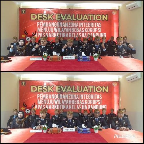 Lapas Narkotika Bandung Mengikuti On Desk Evaluation Pembangunan ZI Menuju WBK oleh TPN KEMENPAN RB