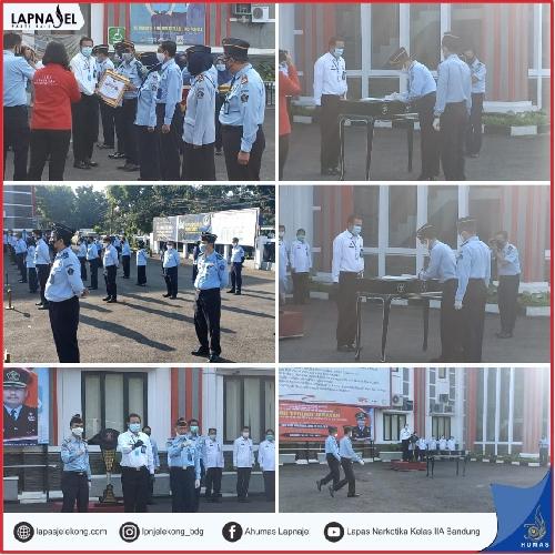 Serah Terima Jabatan Kalapas Narkotika Kelas IIA Bandung di Kantor Wilayah Kemenkumham Jawa Barat